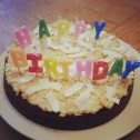 South Korean Sweet Potato Cake - Haaaaaaappy Biiiiiiirthday Stephanie!